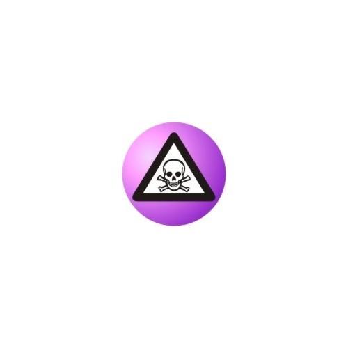Lebka v trojúhelníku (fialová)