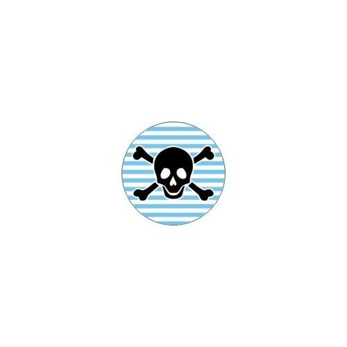 Lebka s modrými pruhy