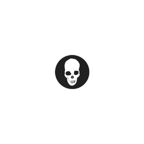 Lebka ( bílá na černém, protáhlá)